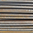 Steel Rebar Background with Construction Copyspace — Stock Photo #10030816
