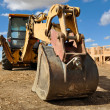 Tractor on a Construction Site — Stock Photo