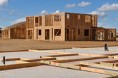 New Home Foundation Foreground — Stock Photo