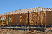 New Home Under Construction with Foundation — Stock Photo