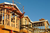 New Residential Homes Under Construction — Stock Photo