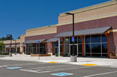 New Strip Mall Shopping Center — Stock Photo