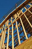 Vertical nova casa em construção — Foto Stock