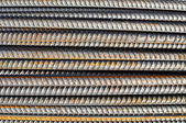 Steel Rebar Background with Construction Copyspace — Stock Photo