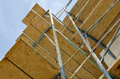 New Home Construction Scaffolding Close Up — Stock Photo