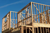 Two Story Home Under Construction — Stock Photo