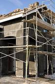 Ângulo vertical de construção home nova — Fotografia Stock