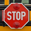 Stock Photo: School Bus Stop Sign