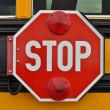 panneau d'arrêt de bus scolaire — Photo