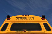Back of School Bus with Blue Sky — Stock Photo