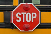 School Bus Stop Sign — Stock Photo