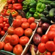 Fresh Produce Tomato For Sale at Market - Stock Photo