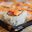 Delicious Fast Food Sushi being served for Lunch or Dinner — Stock Photo #10063215