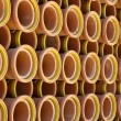 Ceramic Sewer Pipes - Stock Photo