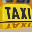 Taxi Sign Close Up — Stock Photo