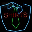 Men Shirt and Tie Neon Sign Advertisement — Stock Photo