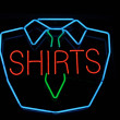 Shirt Neon Sign — Stock Photo