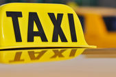Taxi Cab Close Up — Stock Photo
