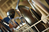 Dirty Dishes in Dishwasher — Stock Photo