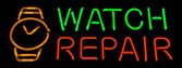 Watch Repair Neon Sign — Stock Photo
