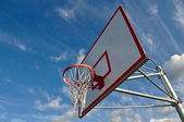 Basketball Hoop with Clouds and Blue Sky — Stock Photo