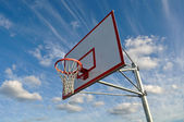 Basketball Hoop with Clouds — Stock Photo