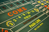 Craps Table located in a Casino — Stock Photo