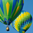 Hot Air Balloon Race - Stock Photo
