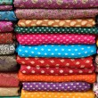Colorful Indian Fabric - Stock Photo