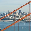 Stock Photo: Golden Gate Bridge with SFrancisco in Background