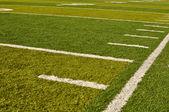 Linea laterale del campo di gioco del calcio — Foto Stock