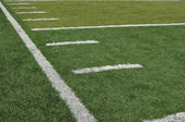 Side Line of a Football Field — Stock Photo