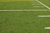 Sideline of a Football Field — Stock Photo