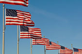 American Flags at Washington Monument — Stock Photo