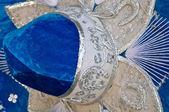 Blue Mexican Sombrero Close Up — Stock Photo
