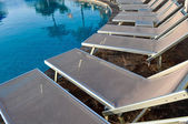 Chairs around Hotel Pool — Stock Photo