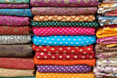 Colorful Indian Fabric — Stock Photo