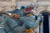 Famous Dragon on La Rambla in Barcelona, Spain — Stock Photo