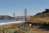Golden Gate Bridge Baker Beach Trail Head — Stock Photo