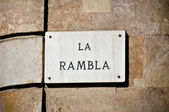 La Rambla Street Sign — Stock Photo