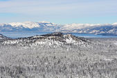 Lake Tahoe California Covered in Snow — 图库照片