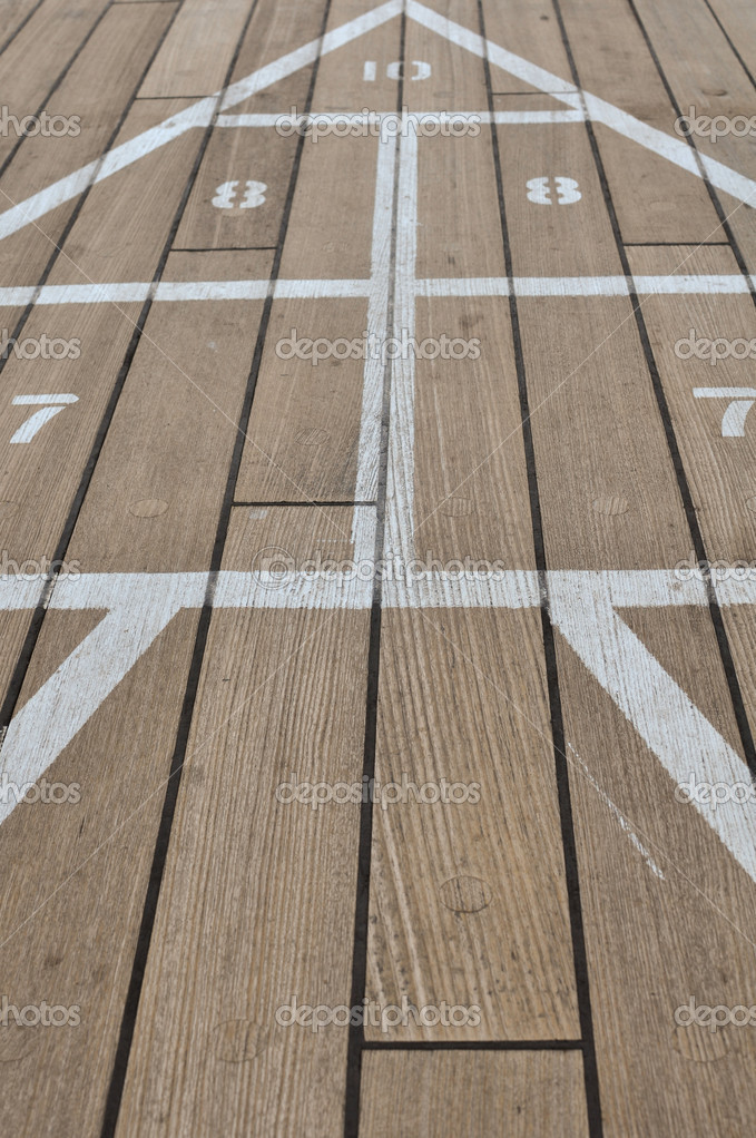 Shuffle Board Game on a Cruise Ship — Stock Photo #10395196