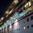 Cruise Ship Docked at Night — ストック写真