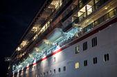 Cruise Ship Docked at Night — Stock Photo