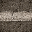 Asphalt Divided Line — Stock Photo
