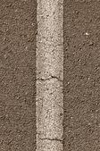 Asphalt with Vertical White Line — Stock Photo