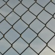 Stock Photo: Chain Link Fence Background