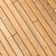 Diagonal Wooden Ship Deck Background - Stock Photo