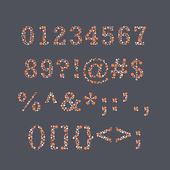 Colorblind Numbers & Punctutation — Stockvektor