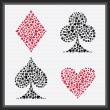 Playing Card Suits — Stockvectorbeeld